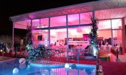 Vue piscine et salle Villa Laarissa